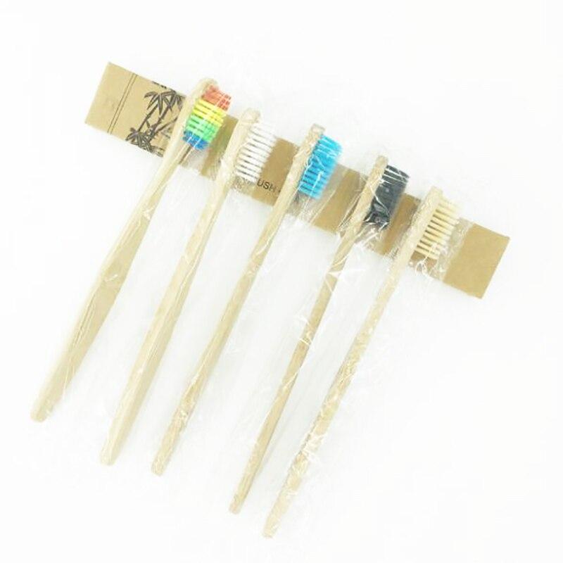 50 Pcs/Lot Environmentally friendly bamboo brush Bamboo Toothbrush Wood Toothbrush Soft Bristles Natural Eco Bamboo Fibre