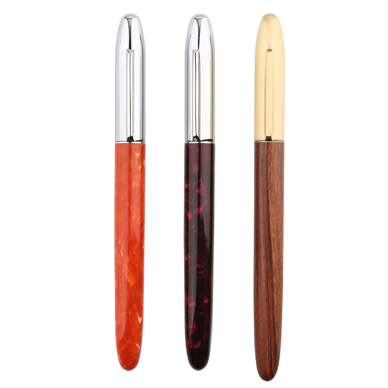 Exquisite Extra Fine Fountain Pen 0.38mm Wood Resin Luxury Nice Gift Pens Business Office Writing Stationery School Supplies 1pc jinhao fountain pen unique design high quality dragon pens luxury business gift school office supplies send father friend 002