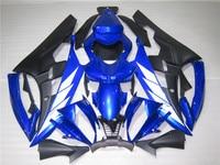 Injection molding plastic fairing kit for Yamaha YZF R6 06 07 blue black fairings set YZFR6 2006 2007 TR07
