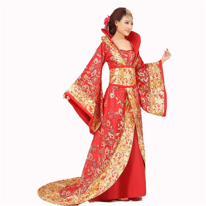 Chinese Han Dynasty Court Dress Dramaturgic Dress Women Ancient Infanta Costume Peri Theatrical Draggle-tail Dress High Quality