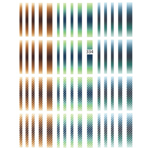 Image 3 - 1 sayfalık degrade çizgili renkli çizgiler 3D Nail Art Sticker yapışkanlı çıkartma japon tırnak aksesuarları tırnak süslemeleri 2019