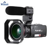 Winait Full hd 1080p digital video camera with 3.0'' touch display/10x optical zoom/24 MP photo mini DV