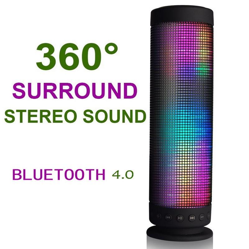FW1S 360 Degree Surround Stereo Sound Portable Recharging Wireless Sound LED Bluetooth Speaker