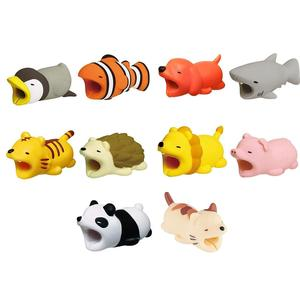 Image 2 - NewUniversal Cable Protector Bite Animal Shape Anti break Data Line Saver Winder Lovely Cartoon Earphone Charger Cord Protection