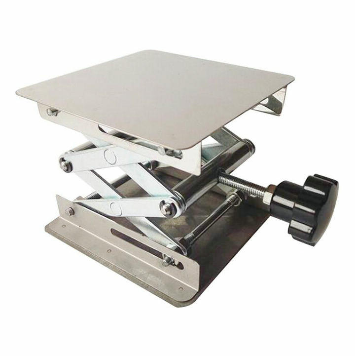 1 Piece/lot 150x150x250mm Stainless steel lifting platform, Raising Platform Lifting Table for Laboratory use lab jack laboratory support jacks 100x100x150mm stainess steel painting lifting table raising platform 4 inch export to europe