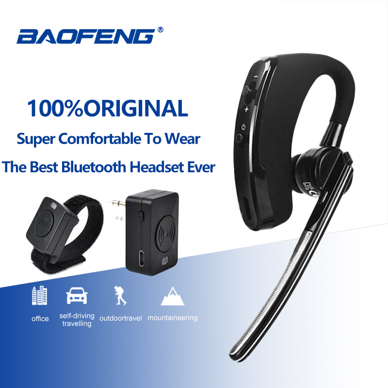 Wireless Walkie Talkie Bluetooth Headset Earpiece For Motorola Kenwood Headphone Baofeng UV-5R BF-888S Dmr Earphone Accessories