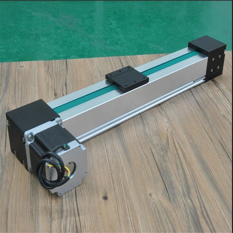 High Speed Belt Drive Linear Guide Rail Stroke 500~900mm Aluminum Motion Slide Module with Motor Actuator for CNC Linear Kit belt driven linear slide rail belt drive guideway professional manufacturer of actuator system axis positioning