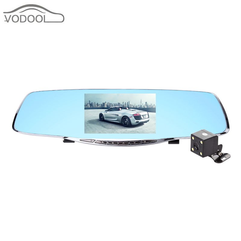 Car-styling 5 High Definition 1080P Car DVR Automobile Detector Rearview Mirror Camera Dashcam Dual Lens Digital Video Recorder plusobd best car camera for bmw 5 series e60 e61 rearview mirror camera video recorder automobile car dvr cheapest camcorder