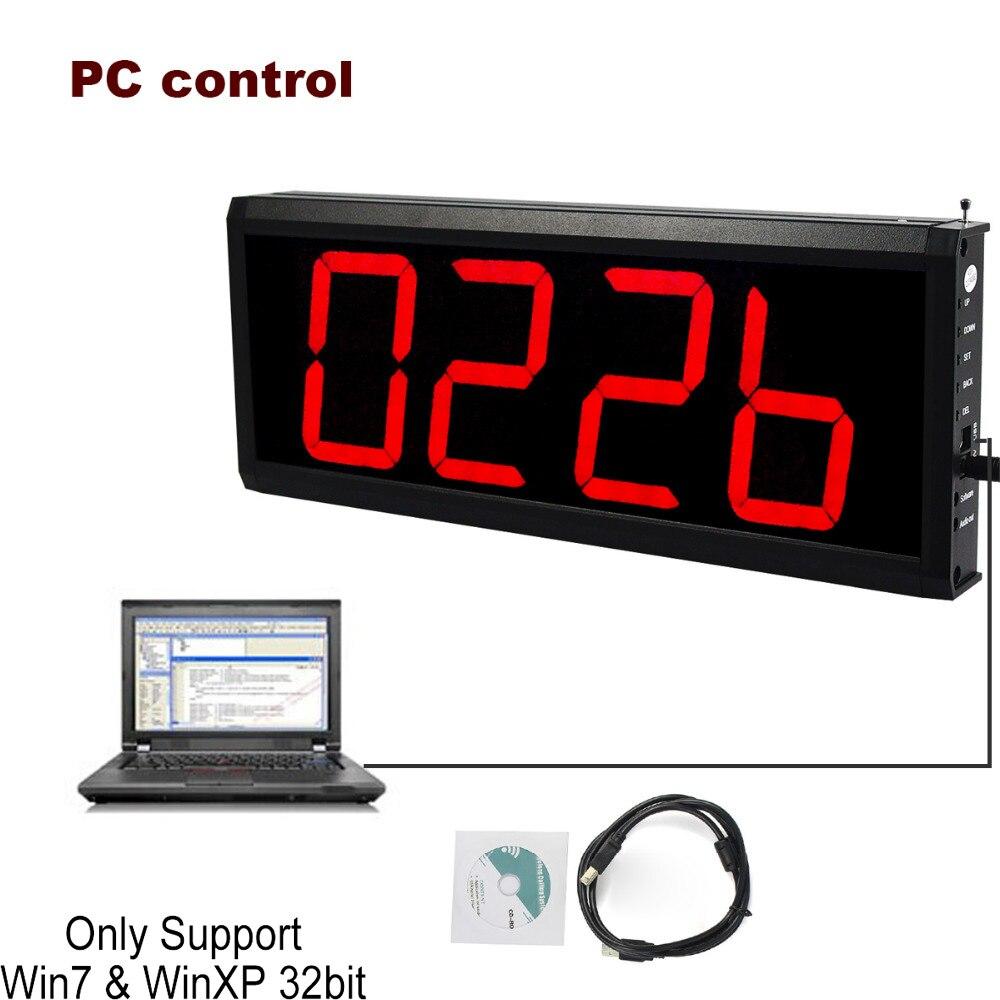Système de file d'attente de récepteur d'appel sans fil de 433 MHz pour l'infirmière de serveur de Restaurant avec le contrôle de PC F4432A