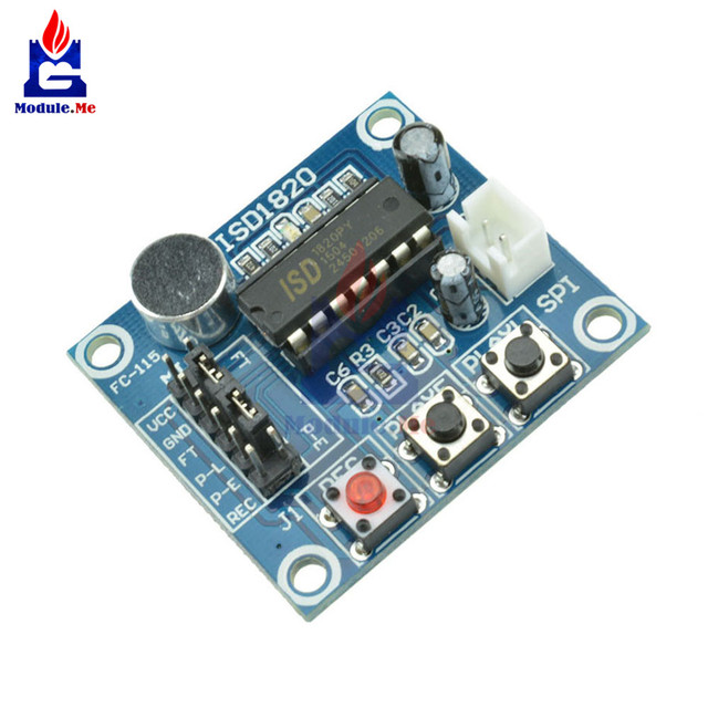 isd1820 sound voice recording playback module mic audio telediphoneisd1820 sound voice recording playback module mic audio telediphone control drive driver board microphone micro phone