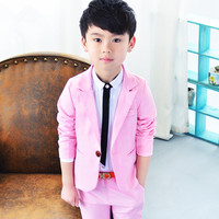2018 Children Suit Baby Boys Suits Kids Blazer Boys Formal Suit For Wedding Boy Clothes Set Jacket Blazer+Pants 2pcs Hot S84103A