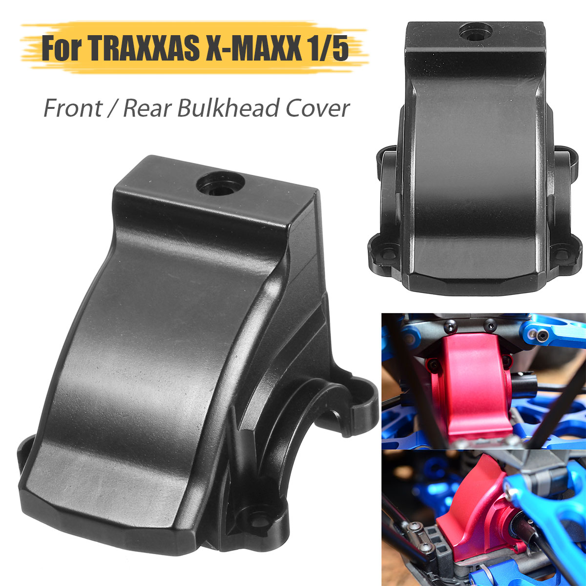 цена на TRAXXAS X-Maxx Aluminum Alloy Front/Rear Gearbox Cover Racing Car Bulkhead Cover for TRAXXAS X-MAXX 1/5 Rc Car Parts Black