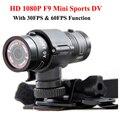 Mini F9 Full HD 1080 P À Prova D' Água Da Bicicleta Capacete Da Motocicleta Ao Ar Livre Esportes de Ação Câmera de Vídeo DV Filmadora Mini