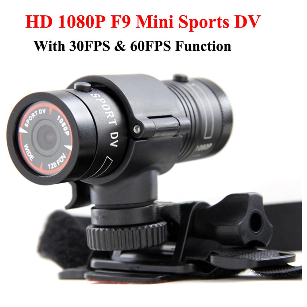 Prix pour Mini F9 Full HD 1080 P Étanche Vélo Moto Casque Sports de Plein Air Action Caméra Vidéo DV Mini Caméscope