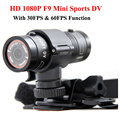 Mini F9 Full HD 1080P Waterproof Bike Motorcycle Helmet Outdoor Sports Action Camera Video DV Mini Camcorder