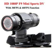 Mini F9 Full HD 1080 P Impermeable de la Bici Casco de La Motocicleta Al Aire Libre Se Divierte La Cámara de Vídeo Mini DV Videocámara