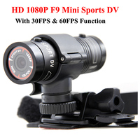 Mini F9 Full HD 1080P Waterproof Bike Motorcycle Helmet Outdoor Sports Action Camera Video DV Mini