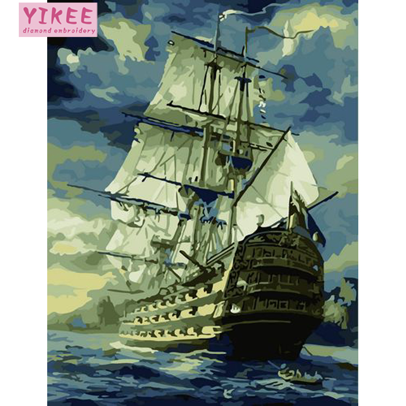 oil painting by numbers,Caribbean ship,pictures by numbers,boat,paint by number kits