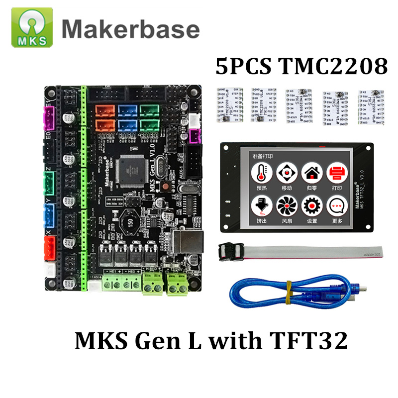 New Hot MKS GEN-L V1 0 Main Board + MK TFT28/TFT32 Fulltouch Screen