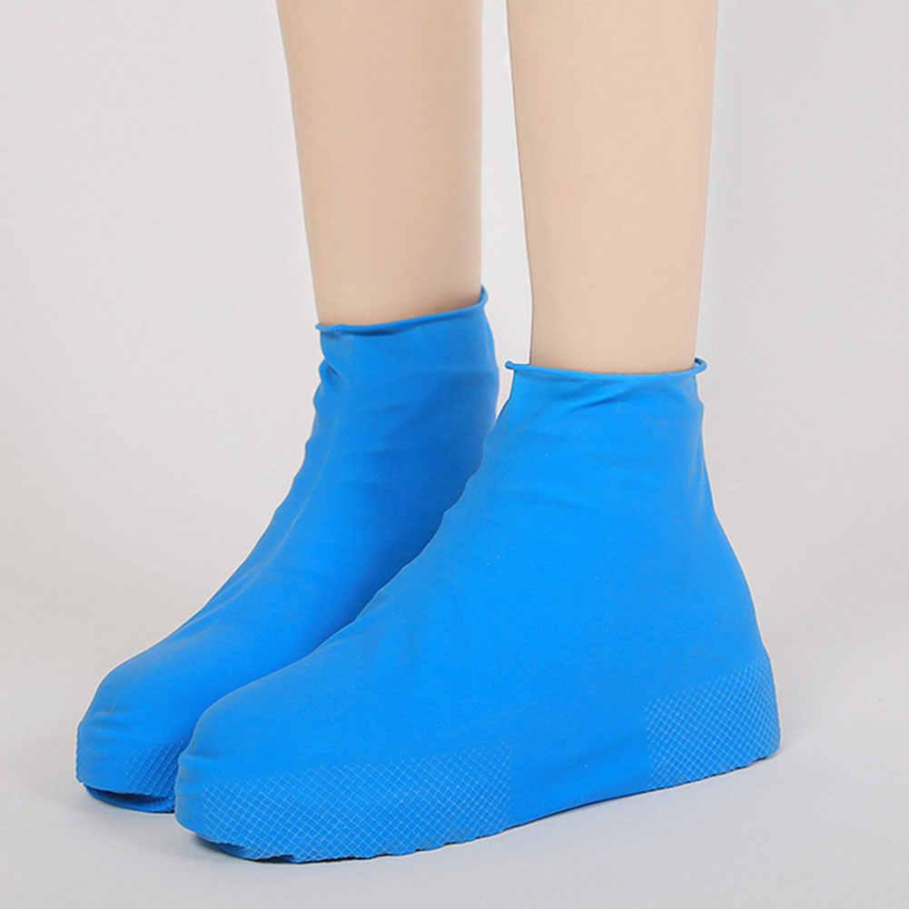 Yüksek Kaliteli Su Geçirmez Kullanımlık yağmur ayakkabıları Kapakları Kauçuk kaymaz yağmur botu Galoş Erkekler ve Kadın Ayakkabı Aksesuarları
