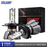 Oslamp H4 H7 H11 H1 9005 9006 Car LED Headlight Bulbs 50W 6500K 8000lm CSP Chips