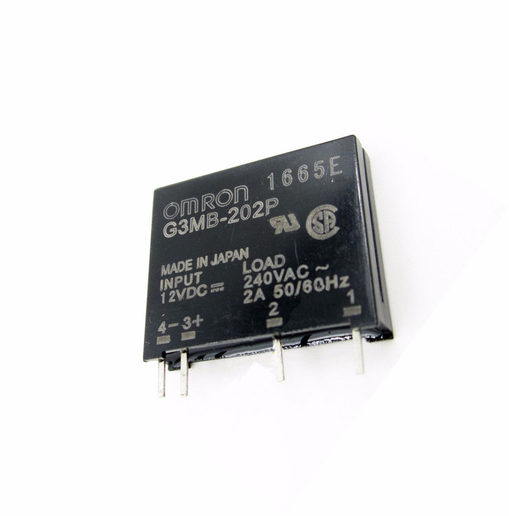 2 PCS G3MB-202P DC-AC PCB SSR In 12V DC AC 2A Out 240V Solid State Relay Module 2017 new 250v 2a 8 channel omron ssr g3mb 202p solid state relay module for arduino mfbs