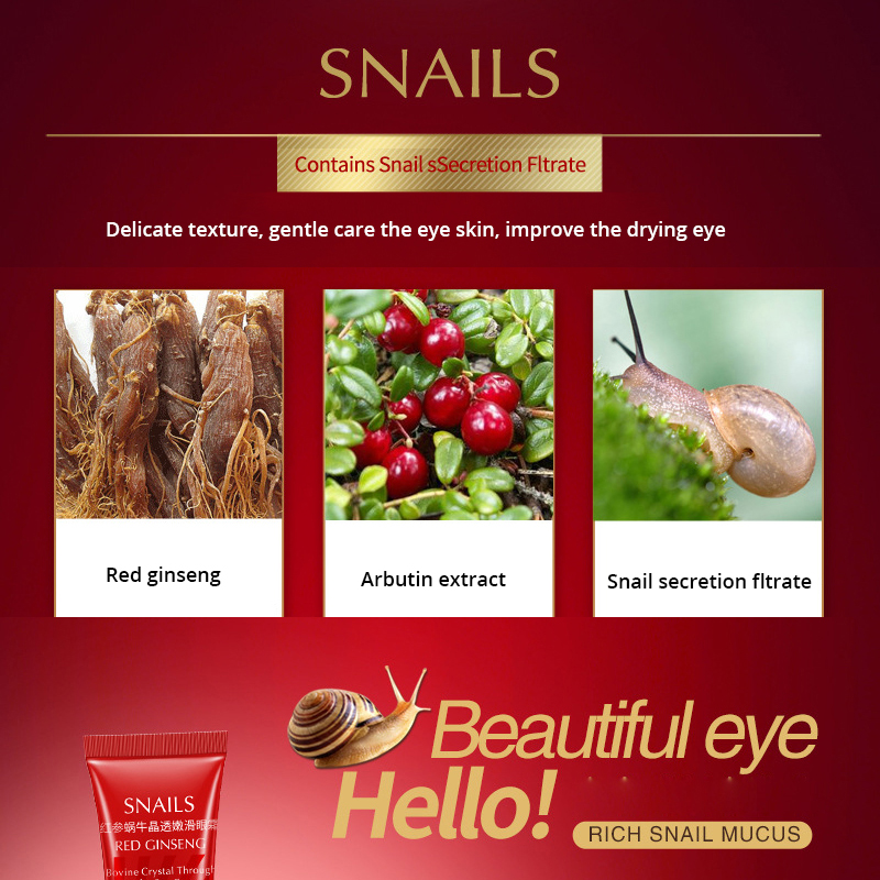 BIOAQUA Brand Snail Essence Eye Cream Moisturizer Instantly Effects Fade Fine Line Makeup gel Remove Dark Circle Lift Skin Care 2