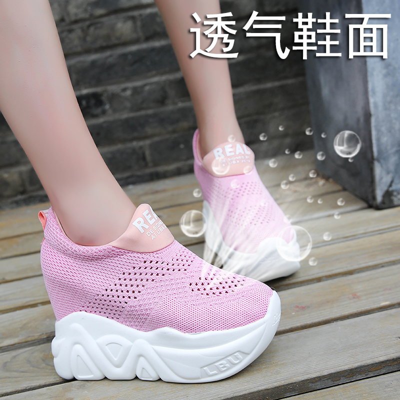 39 Zapatos Lace pink Plate red Femme Mujer Lace 34 Nouvelles forme Haute Occasionnels Lace black Taille Rubu rouge Sneakers white Respirant blanc rose Femmes Compensées Lace Noir Chaussures Talons Mode O6pTq