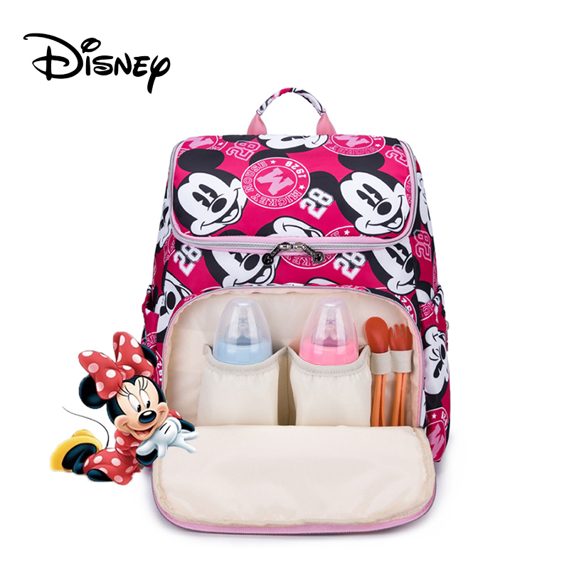 Disney 12 Colors Mickey Mummy Maternity Nappy Bag Large Capacity Minnie Diaper Bag Travel Backpack Nursing Bags For Baby CareDisney 12 Colors Mickey Mummy Maternity Nappy Bag Large Capacity Minnie Diaper Bag Travel Backpack Nursing Bags For Baby Care