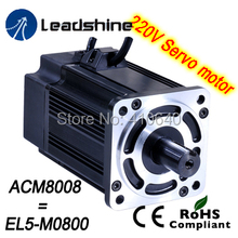 Leadshine 750 W 220V AC servo motor ACM8008L2H-60-B (EL5-M0750) NEMA 32 frame max 5000 rpm and 7.2 Nm torque free shipping! 8in1 cat stain and odor exterminator nm jfc s