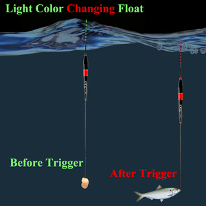 Image 2 - Smart Fishing Float Bite Alarm Fish Bait LED Light Color Change Automatic Night Electronic Changing Buoy Glow In The Dark CR425