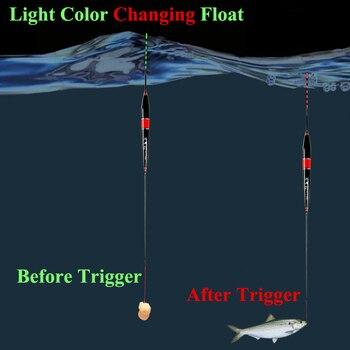 Smart p che flotteur morsure alarme poisson app t couleur de lumi re LED changement automatique