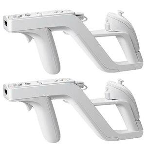 2 Pcs Zapper Gun For Nintendo Wii Remote right left Controller wii Zapper Gun Gaming Accessories