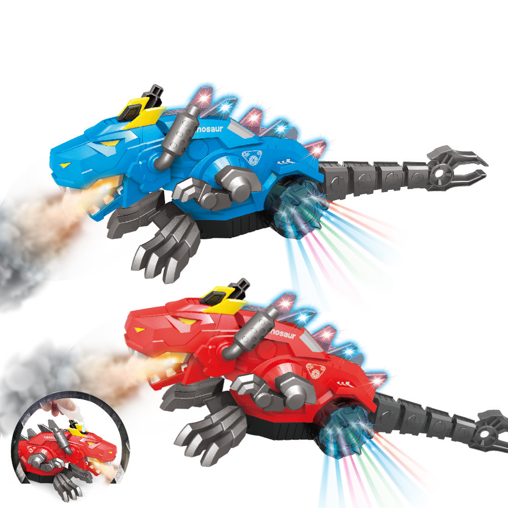 Mechanical Spray Water Electric Universal Walking Dinosaur With Lights + Music Children's Educational Interactive Toys Can Add W