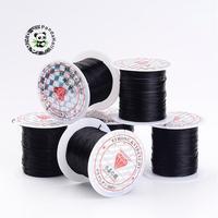 Black Stretch Elastic Fibre Fio Beading Fios DIY para Colar pulseira fazendo 0.8mm 10 m/roll 25 rolos/saco
