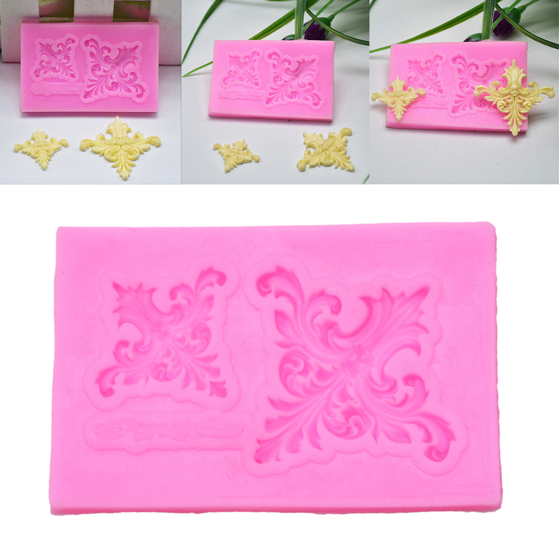 Cake Decorating Tools 3D Leaf Flower Vine Lace Decorations Chocolate Party DIY Fondant Baking Cooking Silicone Mold