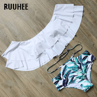 RUUHEE Bikini Swimwear Women Swimsuit 2017 High Waist Bikini Set Sexy Shoulder Off Bathing Suit Brand