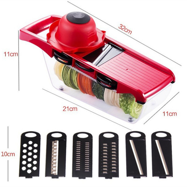Mandoline Slicer Vegetable Cutter with Stainless Steel Blade Manual Potato Peeler Carrot Cheese Grater Dicer Kitchen Tool 5