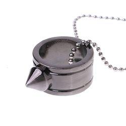 Tungsten Staal Zelfverdediging Levert Ring Vrouwen Mannen Veiligheid Survival Vinger Ring met Ketting Tool Drop Shipping Ondersteuning