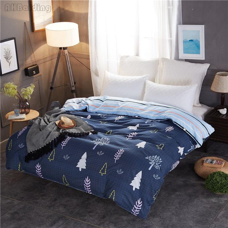 Low Price Christmas Tree Printed Duvet Cover 1 Pc Polyester/Cotton Quilt Cover with Zipper Twin Full Queen Bed Linen Bedding Set