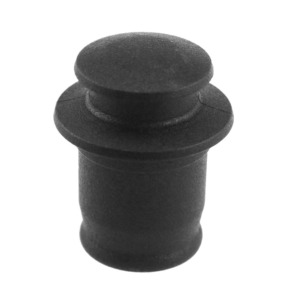 Pack Of 3 PCS ABS Plastic 12V Car Cigarette Lighter Socket Plug Dust Covers Cap Fit For Lighter Socket Size: 0.83-0.87 Black