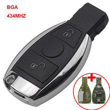 Jingyuqin 434MHz 2 Buttons Remote Car Key for Mercedes BENZ 2000+ With NEC&BGA Shell Replacement Case D25 Accessories