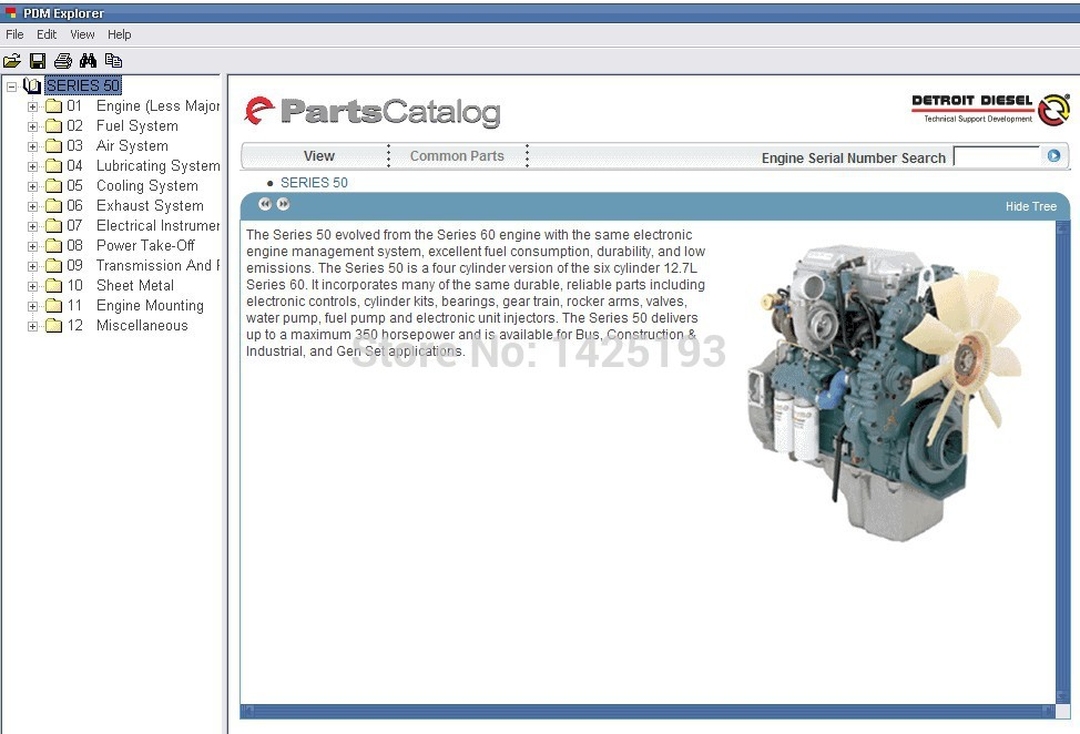 Detroit Diesel Parts Catalog for Series 8.2L,50, 55,60, 2000,4000 mcquay rps catalog