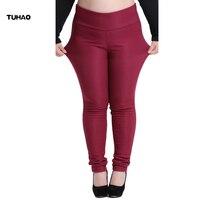 TUHAO Plus Size 6XL Formal Trousers High Waist Women 2017 Autumn Winter Warm Velvet Office Work