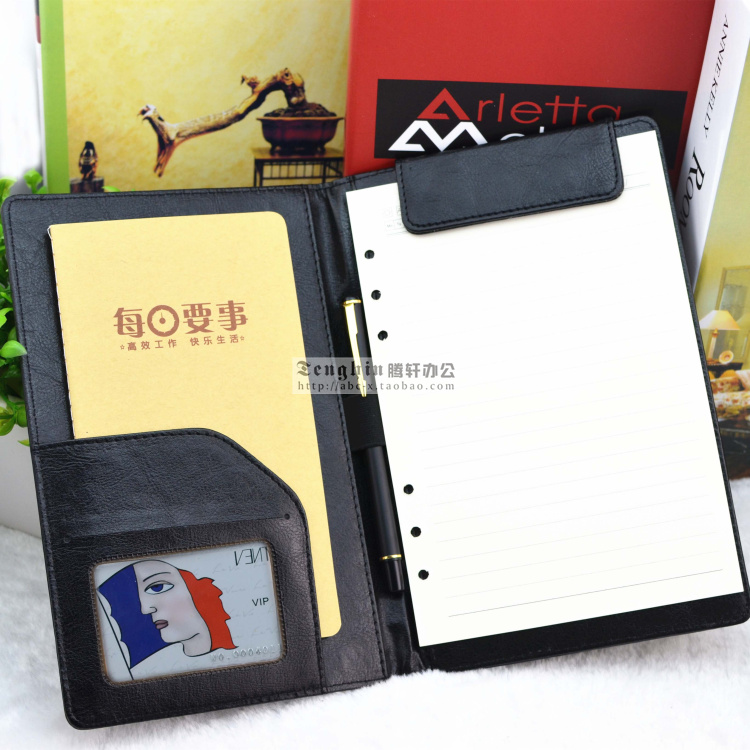 23x15cm A5 Leather Hotel Restaurant Menu Folder Menu Organizer Bill Clamp Holder File Folder Accounts Recording Notepad 1193