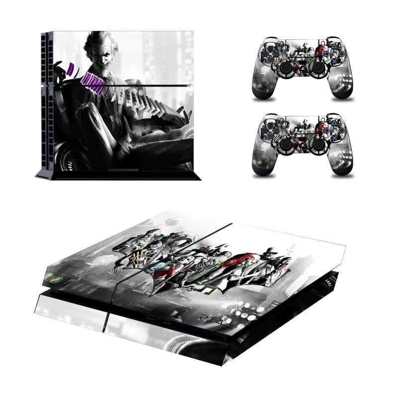 Пользовательские вся наклейка консоли кожаный чехол для Playstation 4 консоли наклейка для PS4 террор наклейки с джокером контроллер светодиодный защитный