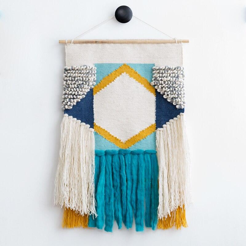 100% laine fait main tapis géométrique indien tapisserie tapis plaid rayé moderne contemporain design Kilim style nordique