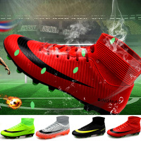 Men Football Boots Soccer Cleats Boots Long Spikes TF Spikes Ankle High Top Sneakers Soft Indoor Turf Futsal Soccer Shoes women