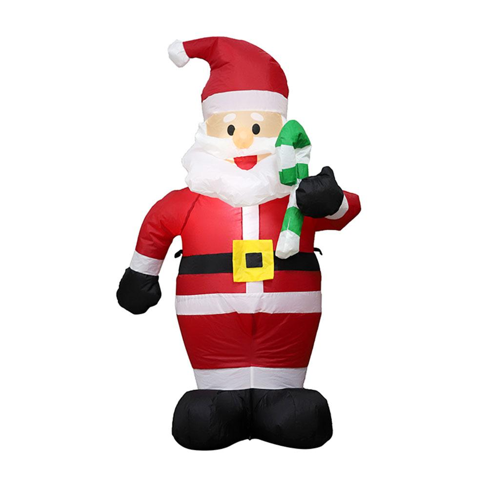 120cm Air Inflatables Santa Claus Outdoor Airblown 2019 Christmas Decoration Figure Statue Supper Market Hotel Ornaments Toys