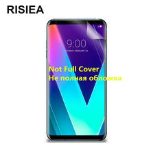 RISIEA 2pcs glossy Clear Screen Protector Transparent Display HD Protective Film For LG V10 V20 V30 K10 K8 2016 2017(China)
